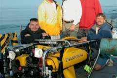 Kevin-Jones,-Steve-Ouellette,-Pat-Labadie,-Terry-Begnoche,-and-Rick-Heineman-pose-with-the-ROV