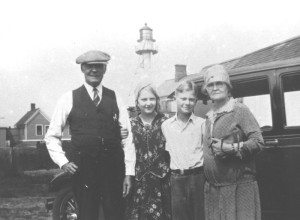 Keeper Robert Carlson and Family at Whitefish Point, 1925