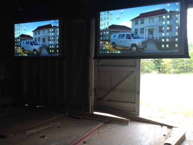 New projections screens in the Motor Lifeboat House