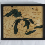 Great Lakes Wood Chart Art