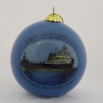 Hand Painted Edmund Fitzgerald Ball Ornament