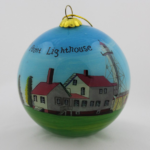 Handpainted Whitefish Point Ornament